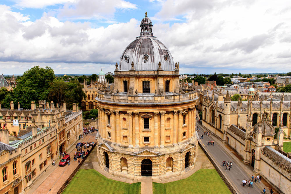 the iconic round building of the radcliffe camera building