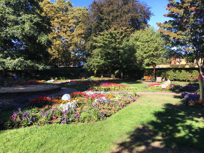 community rose garden in people's park