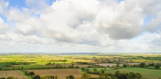 view of warwickshire from the escarpment at edgehill