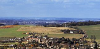 view over hook norton village