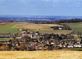view over hook norton village