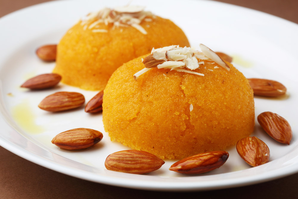 Indian dessert with almonds