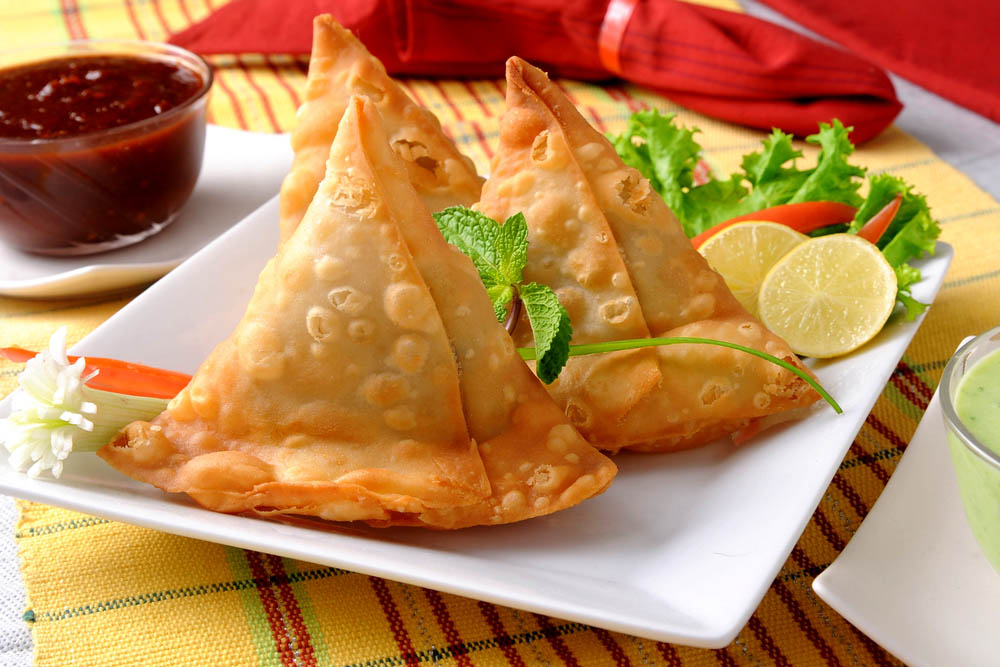 Indian starter of samosas