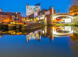 the canals of birmingham city