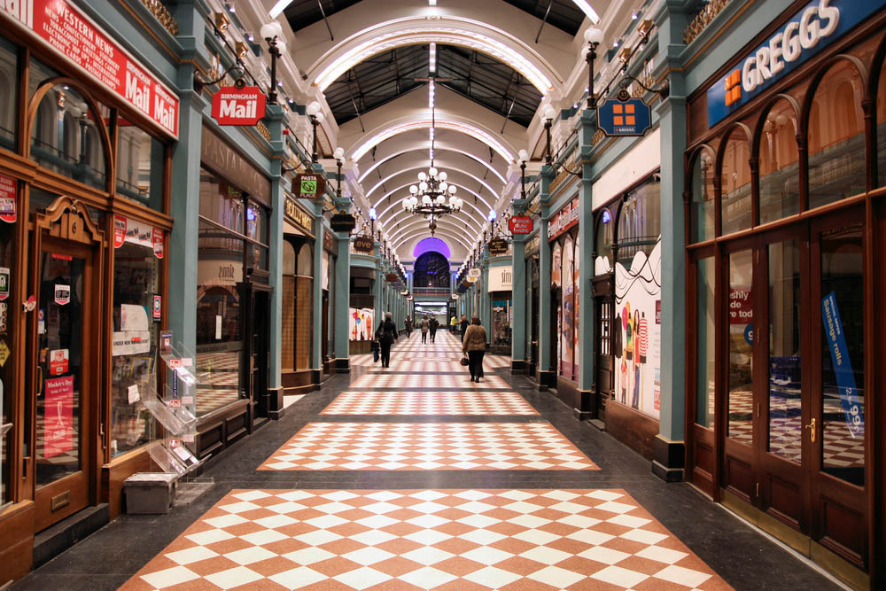 inside the great western arcade shopping centre