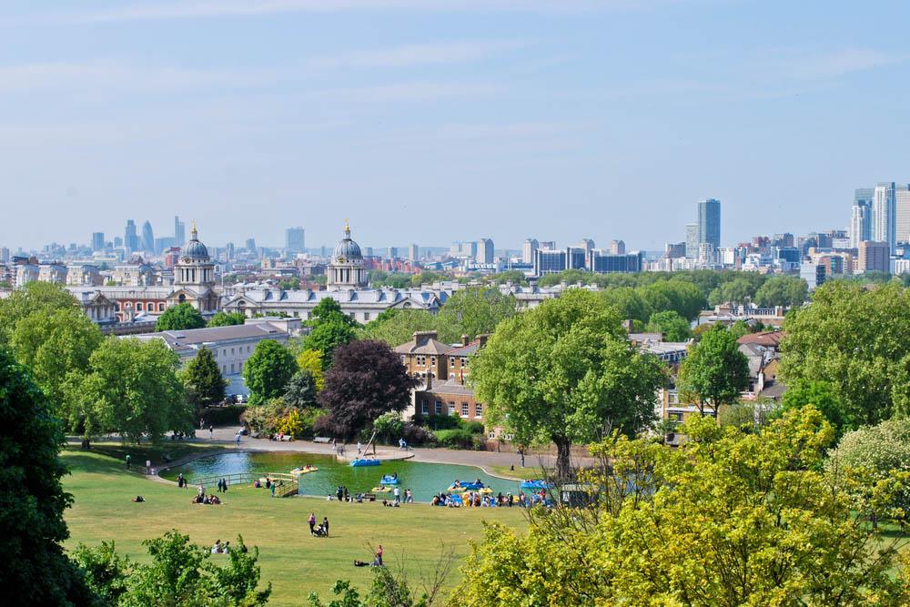 london skyline from greenwich park