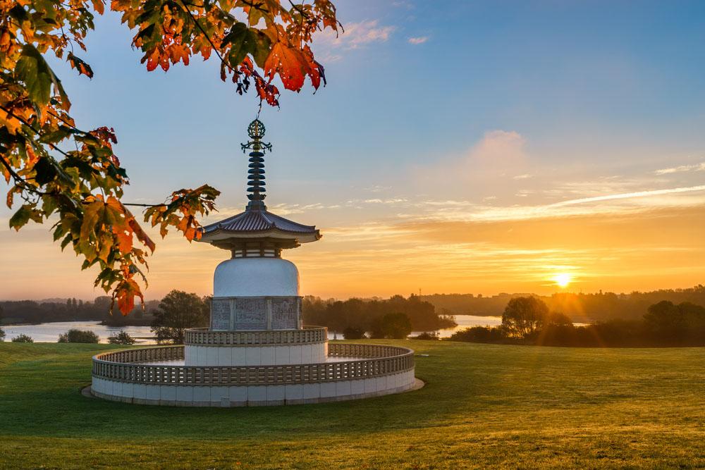 the japanese peace pagoda at william park, milton keynes