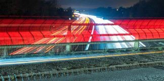 time lapse of cars on the m40 motorway