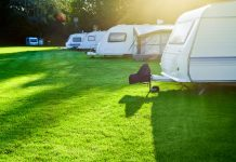 caravans pitched at a campsite in banburyshire