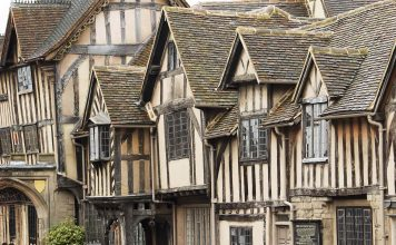 lord leycester hospital in the centre of warwick