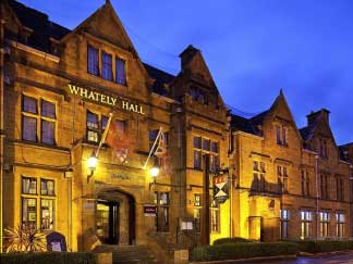 whateley hall in banbury at night